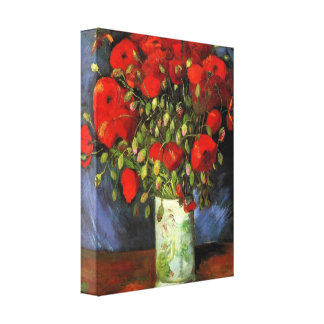 Vincent Willem van Gogh - Vase with Red Poppies Canvas Print