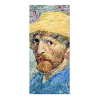 Vincent with straw hat and blue shirt by van Gogh Rack Card
