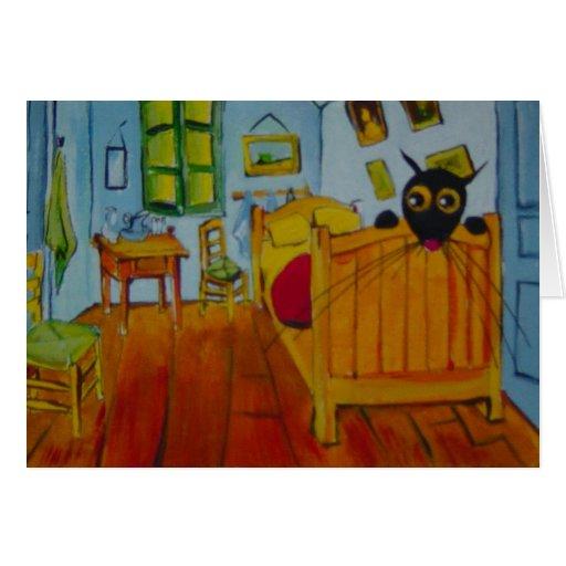 Vincent's bedroom greeting card