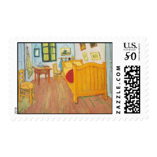 Vincent's Bedroom in Arles 1888 Stamp