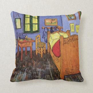 Vincent's Bedroom in Arles by Vincent van Gogh Throw Pillow