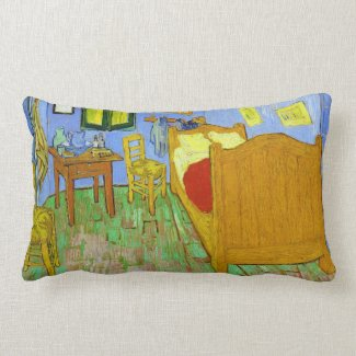 Vincent's Bedroom in Arles by Vincent Van Gogh Pillows
