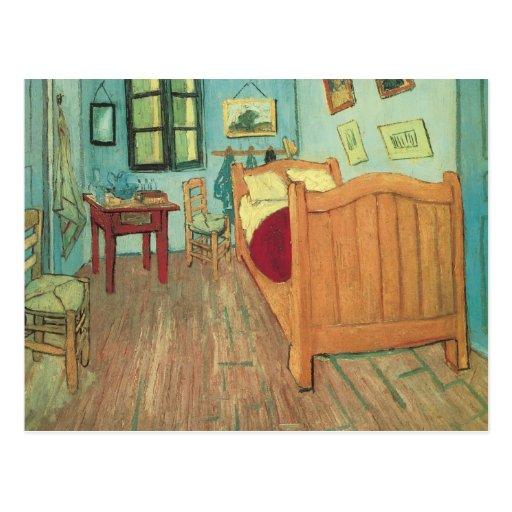 Vincent 39 s bedroom in arles van gogh vintage art post for Bedroom in arles