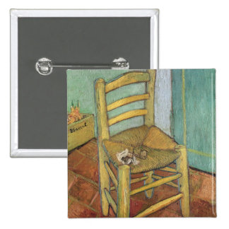 Vincent's Chair, 1888 2 Inch Square Button