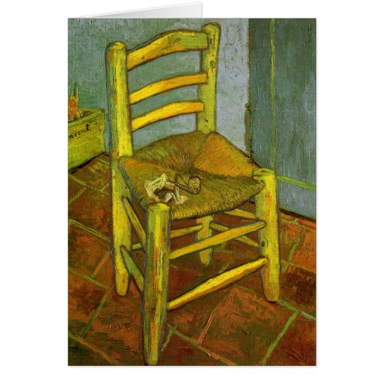 Vincent's Chair with His Pipe by van Gogh Card