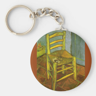 Vincent's Chair with His Pipe by van Gogh Keychain