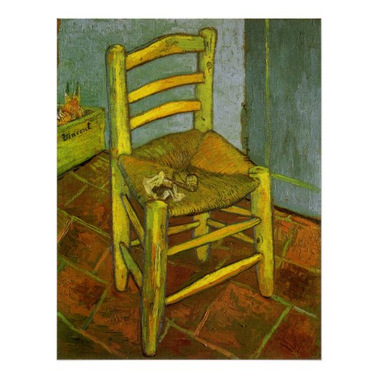 Vincent's Chair with His Pipe by van Gogh Poster