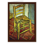 Vincent'S Chair With Pipe By Vincent Van Gogh Cards