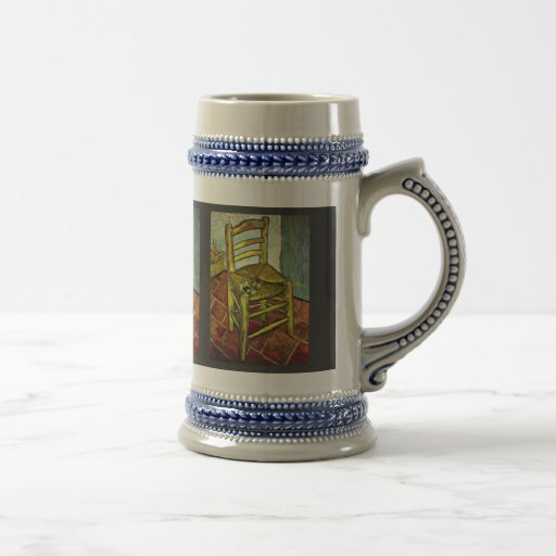 Vincent'S Chair With Pipe By Vincent Van Gogh Coffee Mugs