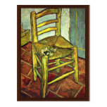 Vincent'S Chair With Pipe By Vincent Van Gogh Postcard