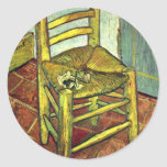 Vincent'S Chair With Pipe By Vincent Van Gogh Sticker