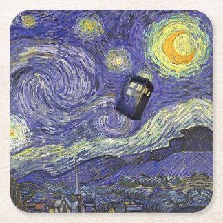 Vincent's Travels Square Paper Coaster