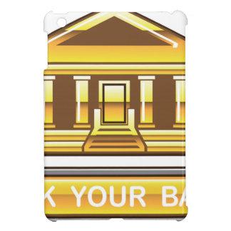 Vínculo de oro del banco su botón del banco