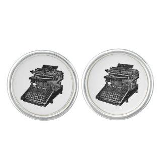 Vínculos de puño de la máquina de escribir del vin gemelos