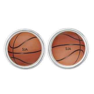 Vínculos de puño del diseño del baloncesto mancuernillas
