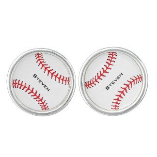Vínculos de puño del diseño del softball del gemelos