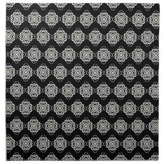 Vínculos decorativos modernos blancos y negros servilletas