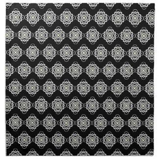 Vínculos decorativos modernos blancos y negros servilletas de papel