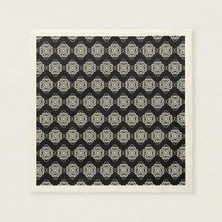 Vínculos decorativos modernos blancos y negros servilleta de papel