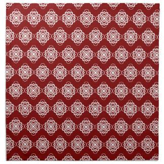 Vínculos decorativos modernos rojos y blancos servilleta de papel