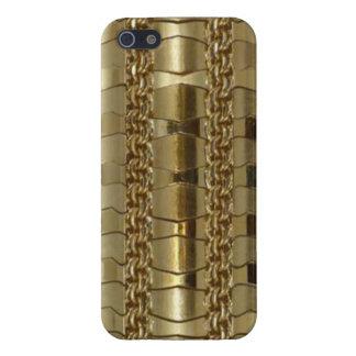 Vínculos y trenza del oro iPhone 5 cárcasa