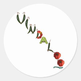 Vindaloo Chili Peppers Classic Round Sticker
