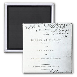 Vindication of the Rights of Woman' 2 Inch Square Magnet