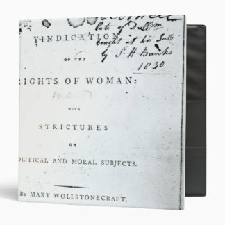 Vindication of the Rights of Woman' 3 Ring Binder