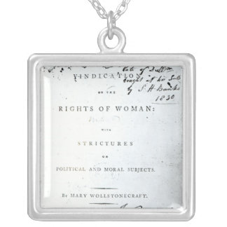 Vindication of the Rights of Woman' Square Pendant Necklace
