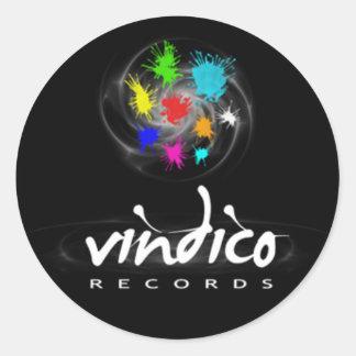 Vindico Records Classic Round Sticker