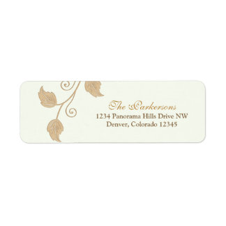 Vine and Leaves Wedding Return Address Labels
