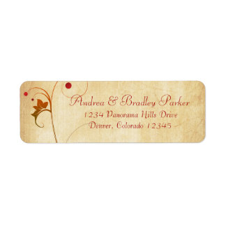 Vine Berries Fall Wedding Return Address Label