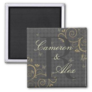 Vine & Butterfly Monogram Love Magnet