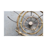 Vine Concentric Circles Nature Art Closeup Canvas Print
