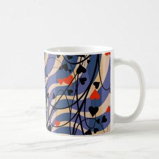 vine floral pattern classic white coffee mug