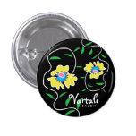 Vine Flower Vartali Round Button