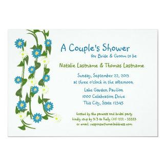 Vine Flowers Couple's Shower 5x7 Paper Invitation Card