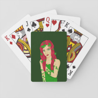 Vine Girl Playing Cards