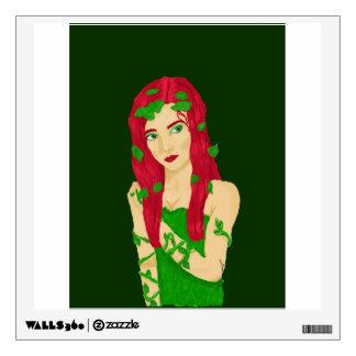 Vine Girl Wall Sticker