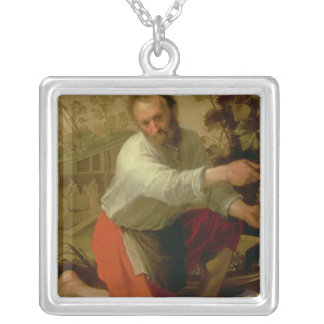 Vine Grower, 1628 Silver Plated Necklace