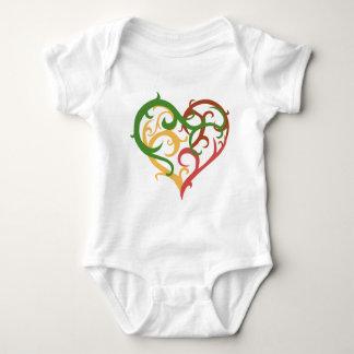 vine heart 2 baby bodysuit