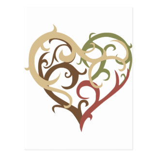 vine heart 4 postcard