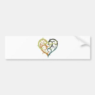 vine heart tribal bumper sticker