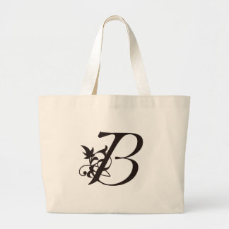 Vine Initial B Jumbo Tote Bag
