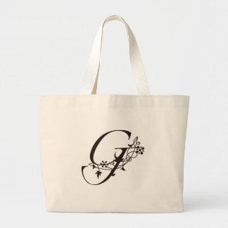 Vine Initial G Jumbo Tote Bag