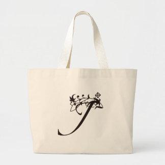 Vine Initial J Jumbo Tote Bag