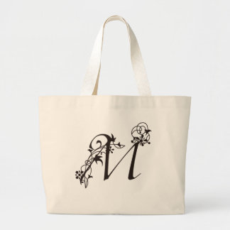 Vine Initial M Jumbo Tote Bag