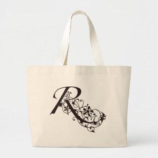 Vine Initial R Jumbo Tote Bag
