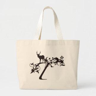 Vine Initial T Jumbo Tote Bag