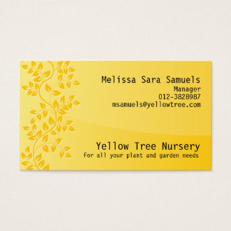 Vine Leave Nature Business Card